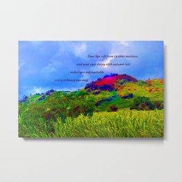 """Kauai's Landscape #1"" with Poem Metal Print"