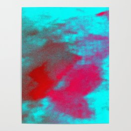 Abstract magenta red blue Poster