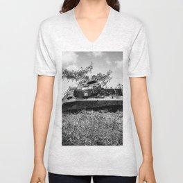 Lost in the land/Old Japanese War Tank Unisex V-Neck