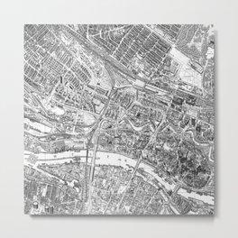 Vintage Map of Bremen, Germany Metal Print