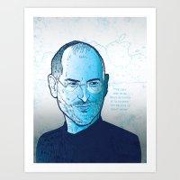 steve jobs Art Prints featuring Steve Jobs by BTillustration
