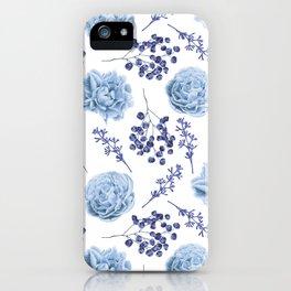 Sky Blue Roses iPhone Case