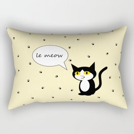 le Meow Rectangular Pillow