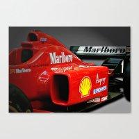 f1 Canvas Prints featuring Ferrari F1 by cjsphotos