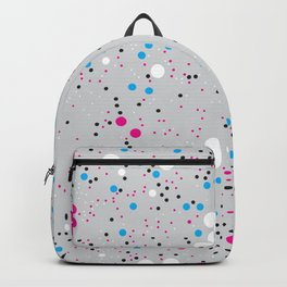 Chaotic circles pattern. Confetti #4 Backpack
