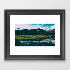 North Cascades Hidden Lake Framed Art Print