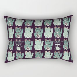Katsumi: beckoning cat Rectangular Pillow