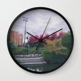 Fall in Chicago Wall Clock