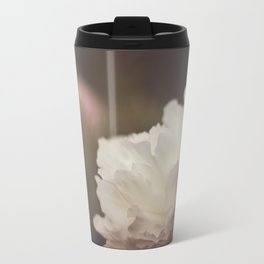White and Pink Peonies Travel Mug