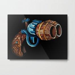 Black Double Barrell Metal Print