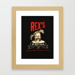 Rex's Main Logo Framed Art Print