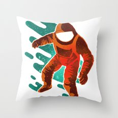 Space Distortion Throw Pillow