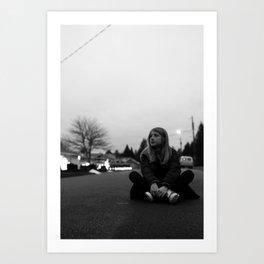 Untitled (girl sitting) Art Print
