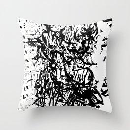 dredd glyph Throw Pillow
