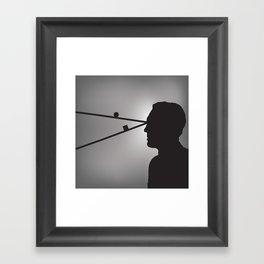 The Prisoner is Being Tested Framed Art Print