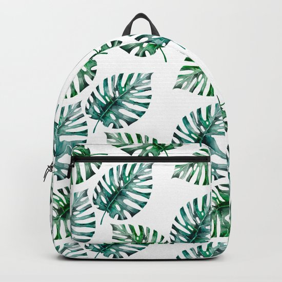 Tropical Foliage Monstera Pattern on #Society6 Backpack