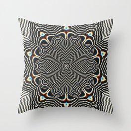 Full Om Mandala Throw Pillow