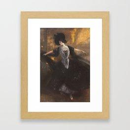 Albert von Keller 1844 Gais - Munich 1920 young dancer Framed Art Print
