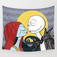 nightmare before christmas Wall Tapestries featuring Nightmare Before Xmas by ggburns