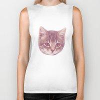 kitten Biker Tanks featuring Kitten  by Freak Clothing