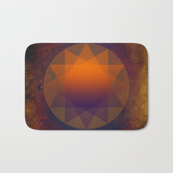 Merkaba, Abstract Geometric Shapes Bath Mat