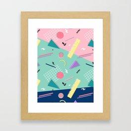 Dreaming 80s Pattern #society6 #decor #buyart Framed Art Print