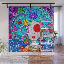 Graffiti Geisha Wall Mural