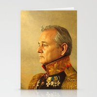 gold glitter Stationery Cards featuring Bill Murray - replaceface by replaceface