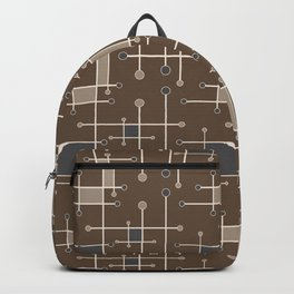 Intersecting Lines in Brown, Tan and Gray Backpack