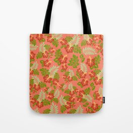 Hawaiian Pattern - Red Tote Bag
