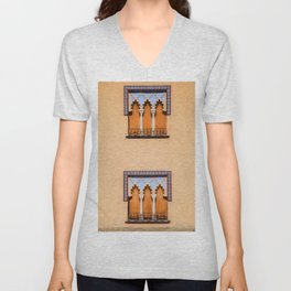 Dueling Windows of the Medieval Village of Cordoba Spain Unisex V-Neck