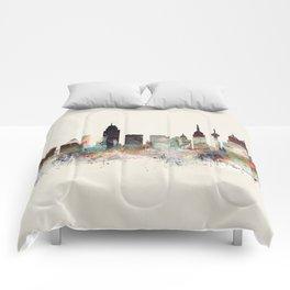 san antonio skyline Comforters