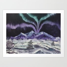 Aurora the Fabulous - Dancing lights Art Print