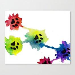 Pawprint Splash Canvas Print