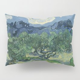 Vincent van Gogh - Olive Trees in a Mountainous Landscape Pillow Sham