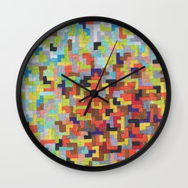 Warm Blocks Cloud Wall Clock