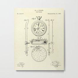 Stop Watch-1889 Metal Print