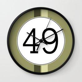 Rally 49 Wall Clock