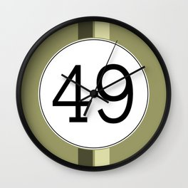 Rally 49 Wall Clock