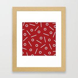 Fun Minimal Red Framed Art Print