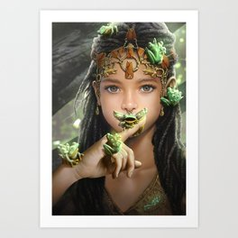 The princess and the frogs Art Print