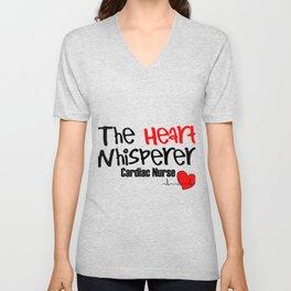 The Heart Whisperer Cardiac Nurse Unisex V-Neck