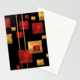 Red and Gold Foil Blocks Stationery Cards