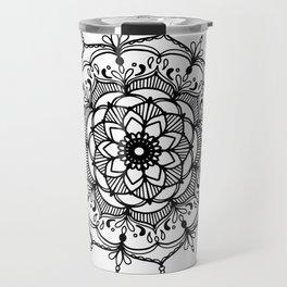 Hand-drawn mandala Travel Mug