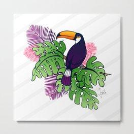 Tropical Toucan Design Metal Print