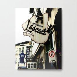 Quebec City street scene Metal Print