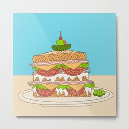 Sloppy Sandwich Metal Print