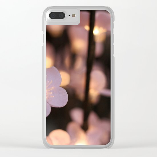 Pink lights Clear iPhone Case