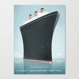 Vintage Travel Poster - Cruise Ship Canvas Print