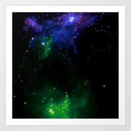The Cosmos (blue and green) Art Print